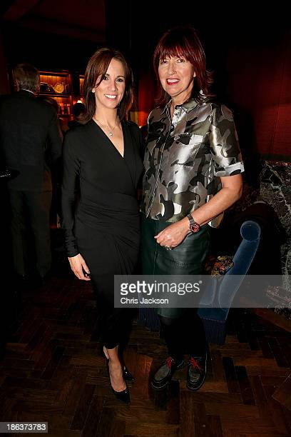 Andrea McLean and Janet StreetPorter attends the opening of Rosewood London on October 30 2013 in London England