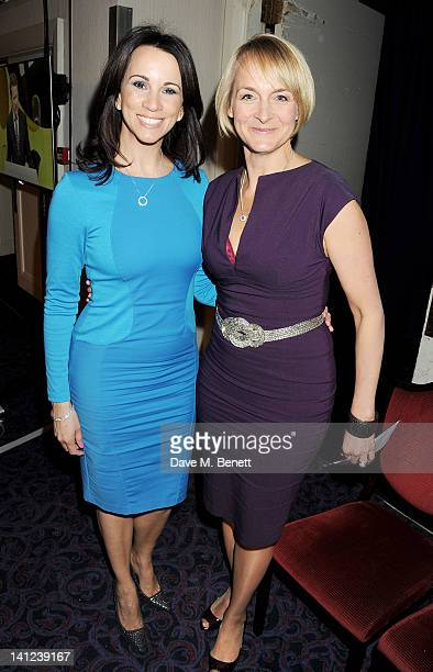Andrea McLean and Louise Minchin attend the TRIC Television and Radio Industries Club Awards at The Grosvenor House Hotel on March 13 2012 in London...