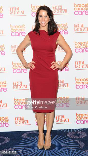 Andrea McLean arrives for Breast Cancer Care's London Fashion Show 2014 at The Grosvenor House Hotel on October 1 2014 in London England