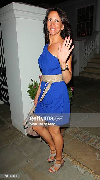 Andrea McLean attending the ITV Summer Reception on July 17 2013 in London England