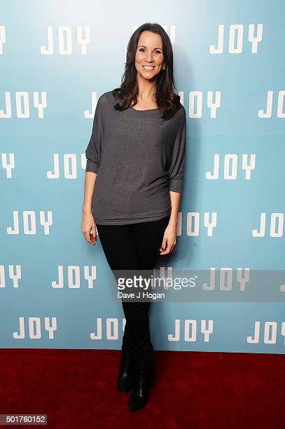 Andrea McLean attends a special screening of 'Joy' at Ham Yard Hotel on December 17 2015 in London England
