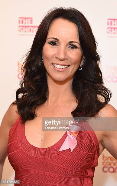 Andrea McLean attends Breast Cancer Care's London fashion show at Grosvenor House Hotel to launch Breast Cancer Awareness Month on October 7 2015 in...
