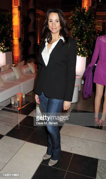 Andrea McLean attends Jonathan Shalit's 50th birthday party at The VA on April 17 2012 in London England