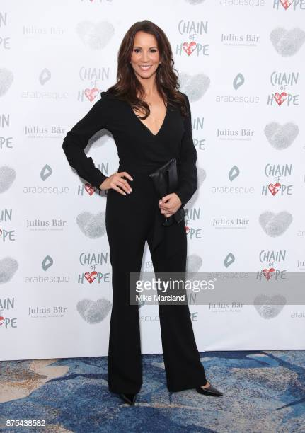 Andrea McLean attends the Chain Of Hope Gala Ball held at Grosvenor House on November 17 2017 in London England