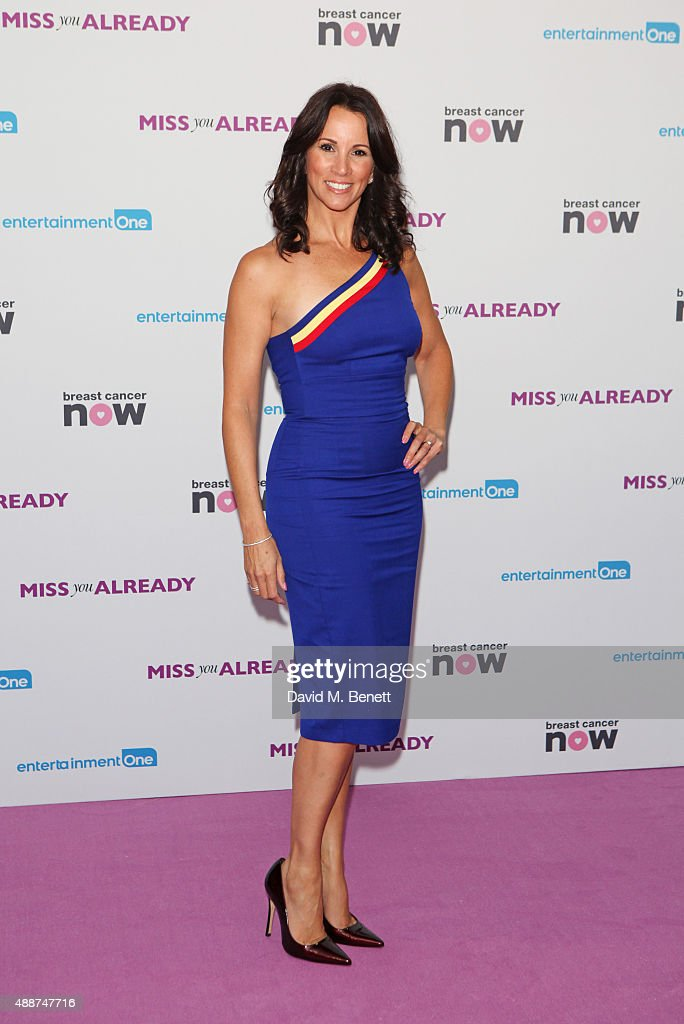 Andrea McLean attends the European Premiere of 'Miss You Already' at Vue West End on September 17, 2015 in London, England.