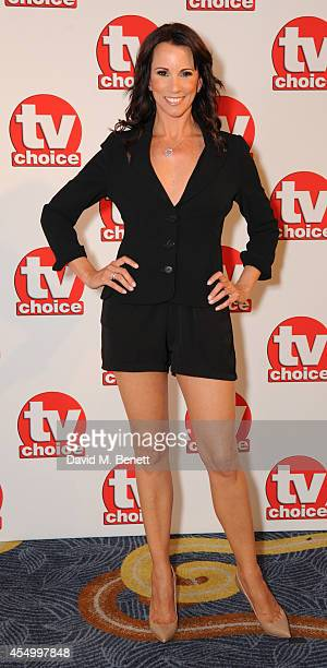 Andrea McLean attends the TV Choice Awards 2014 at the London Hilton on September 8 2014 in London England