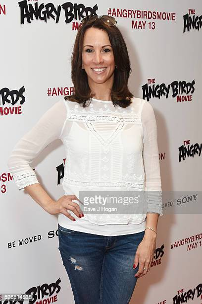 Andrea McLean attends the UK gala screening of 'Angry Birds' at Picturehouse Central on May 7 2016 in London England
