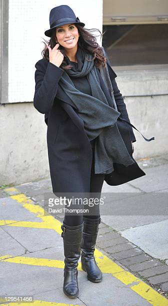 Andrea McLean is seen leaving the ITV studio on October 18 2011 in London England