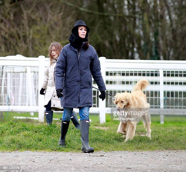 Andrea McLean is sighted during a walk with her daughter on January 3 2015 in London England