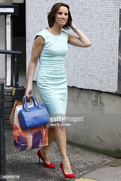 Andrea Mclean leaves the ITV Studios after hosting 'Loose Women' on June 20 2014 in London England