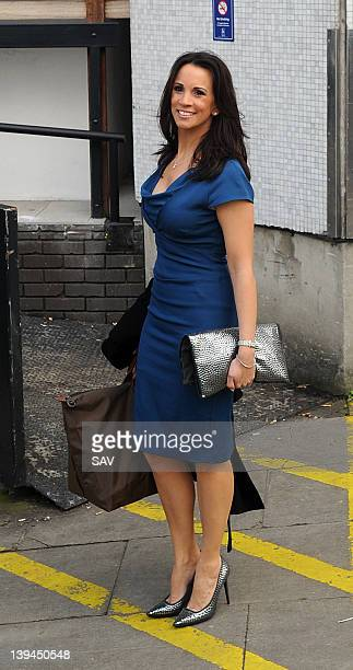 Andrea McLean pictured at the ITV studios on February 21 2012 in London England