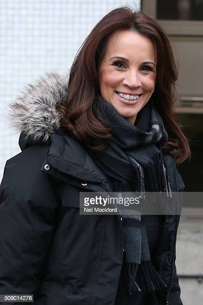 Andrea McLean seen at the ITV Studios after appearing on Loose Women on February 8 2016 in London England