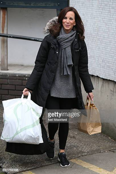 Andrea McLean seen at the ITV Studios after appearing on Loose Women on January 26 2017 in London England