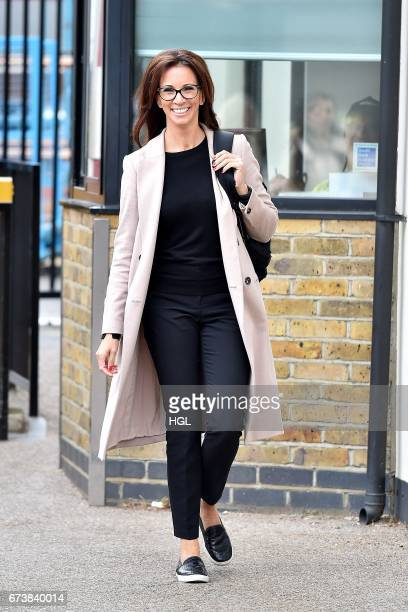 Andrea McLean seen at the ITV Studios on April 27 2017 in London England