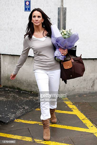 Andrea McLean seen leaving the ITV Studios on January 24 2012 in London England