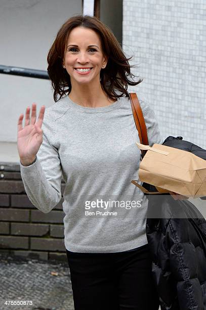 Andrea McLean sighted at ITV Studios on February 28 2014 in London England