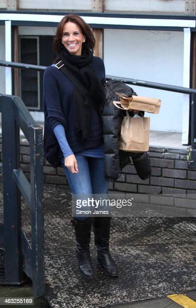 Andrea McLean sighting on January 17 2014 in London England