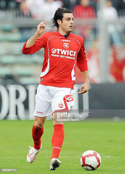 Andrea Milani of AC Ancona in action during the Serie B match between AC Ancona and Vicenza Calcio at Del Conero Stadium on November 15 2009 in...
