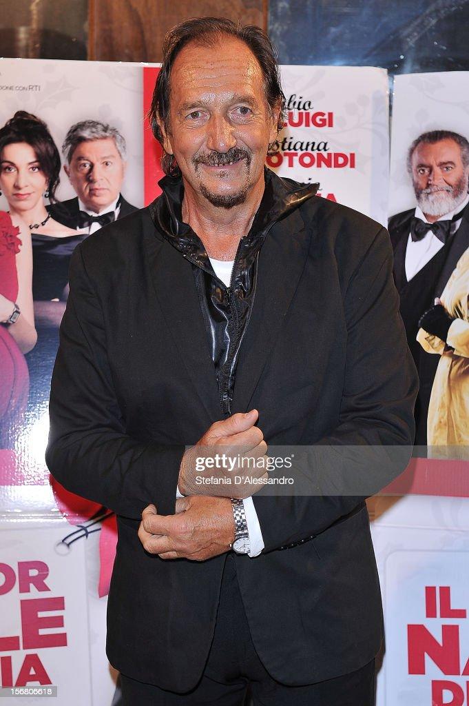 Andrea Mingardi attends 'Il Peggior Natale Della Mia Vita' Premiere on November 21, 2012 in Milan, Italy.