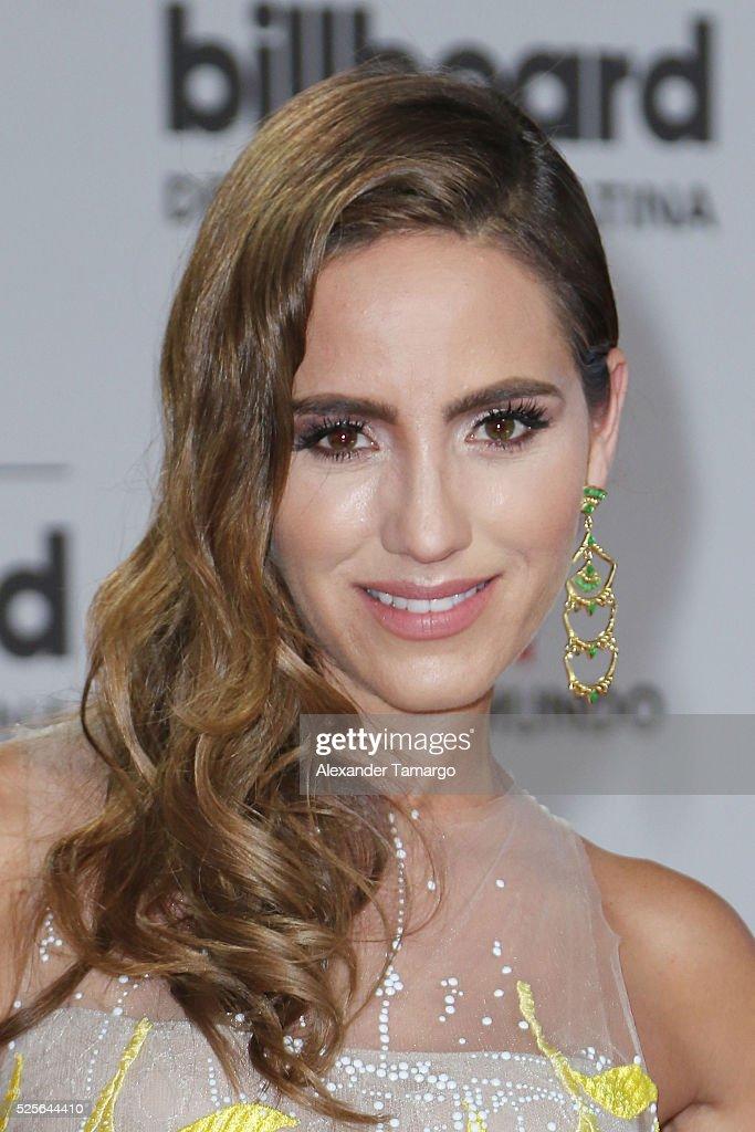 Andrea Minski attends the Billboard Latin Music Awards at Bank United Center on April 28, 2016 in Miami, Florida.