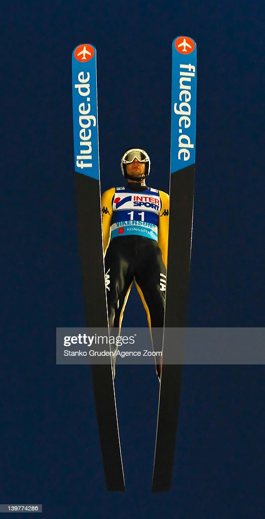 <a gi-track='captionPersonalityLinkClicked' href=/galleries/search?phrase=Andrea+Morassi&family=editorial&specificpeople=723067 ng-click='$event.stopPropagation()'>Andrea Morassi</a> of Italy competes during the FIS Ski Flying World Championships HS225 on February 24, 2012 in Vikersund, Norway.
