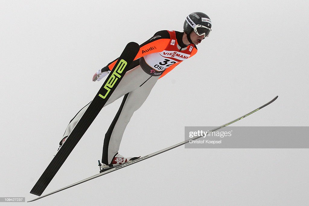 <a gi-track='captionPersonalityLinkClicked' href=/galleries/search?phrase=Andrea+Morassi&family=editorial&specificpeople=723067 ng-click='$event.stopPropagation()'>Andrea Morassi</a> of Italy competes in the Men's Ski Jumping HS106 Qualification round during the FIS Nordic World Ski Championships at Holmenkollen on February 25, 2011 in Oslo, Norway.