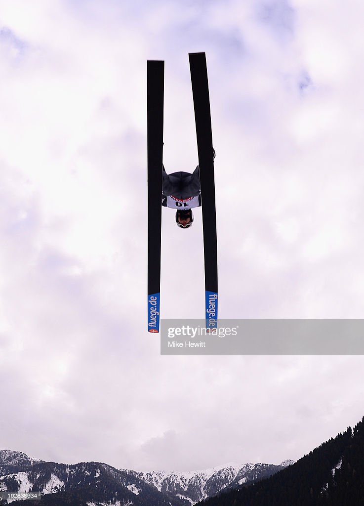 <a gi-track='captionPersonalityLinkClicked' href=/galleries/search?phrase=Andrea+Morassi&family=editorial&specificpeople=723067 ng-click='$event.stopPropagation()'>Andrea Morassi</a> of Italy in action during the Men's Ski Jumping HS134 at the FIS Nordic World Ski Championships on February 28, 2013 in Val di Fiemme, Italy.