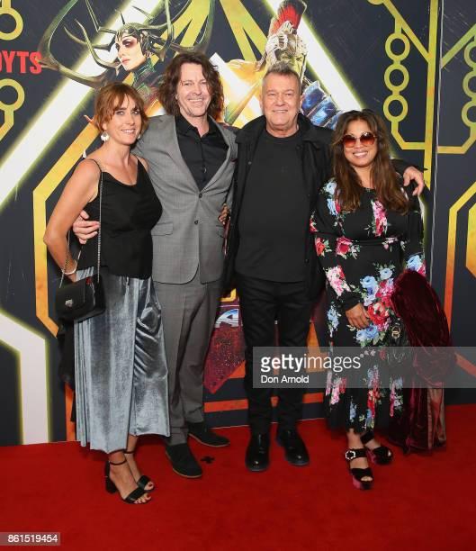 Andrea Moreno Bernard Fanning Jimmy Barnes and Jane Barnes arrive for the premiere screening of Thor Ragnarok Sydney at Fox Studios on October 15...