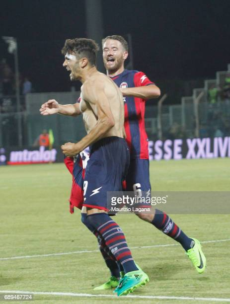 Andrea Nalini of Crotone celebrates after scoring his team's third goal during the Serie A match between FC Crotone and SS Lazio at Stadio Comunale...