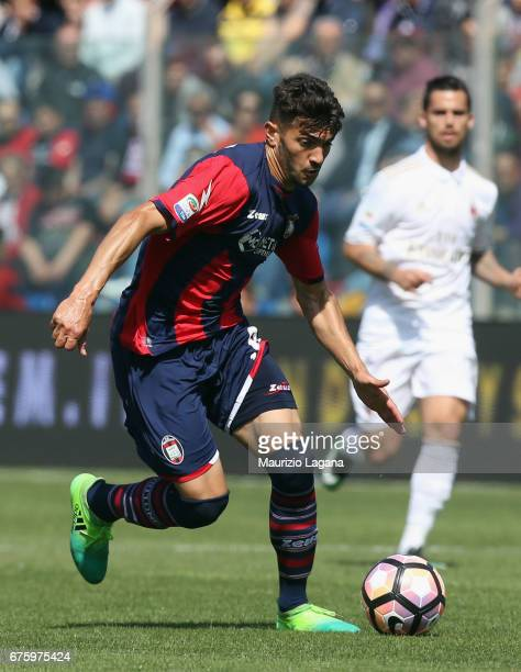 Andrea Nalini of Crotone during the Serie A match between FC Crotone and AC Milan at Stadio Comunale Ezio Scida on April 30 2017 in Crotone Italy