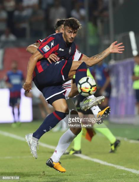 Andrea Nalini of Crotone during the Serie A match between FC Crotone and AC Milan on August 20 2017 in Crotone Italy