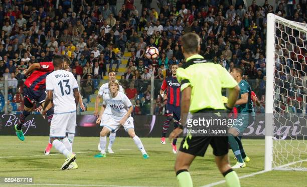 Andrea Nalini of Crotone scores his team's third goa during the Serie A match between FC Crotone and SS Lazio at Stadio Comunale Ezio Scida on May 28...