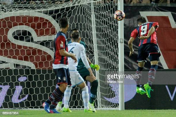 Andrea Nalini of FC Crotone scores a third goal during the Serie A match between FC Crotone and SS Lazio at Stadio Comunale Ezio Scida on May 28 2017...