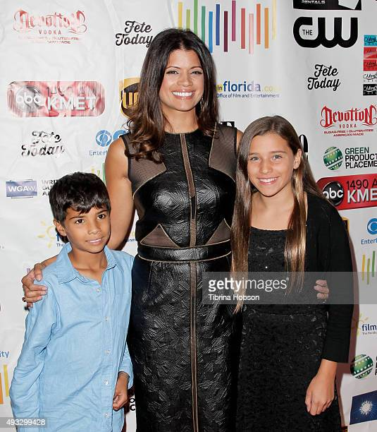 Andrea Navedo and her children attend the 11th annual LA Femme International Film Festival Awards Gala at The Los Angeles Theatre Center on October...