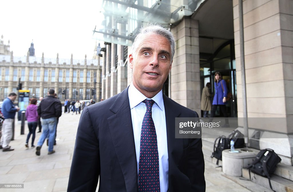 Andrea Orcel, chief executive officer of investment banking at UBS AG, leaves Portcullis House after giving evidence in the Libor enquiry at the U.K. Parliament's Banking Standards Committee in London, U.K., on Wednesday, Jan. 9, 2013. UBS AG is in the process of rooting out 'negative elements' of its corporate culture after Switzerland's largest bank was fined $1.5 billion by regulators for trying to rig global interest rates, said Andrea Orcel, chief executive officer of the investment bank. Photographer: Chris Ratcliffe/Bloomberg via Getty Images