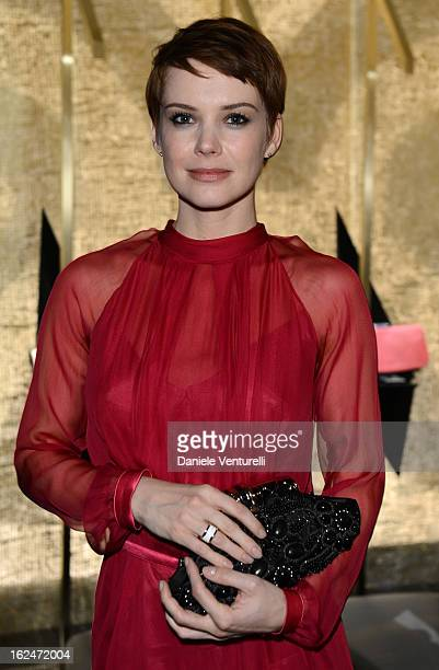 Andrea Osvart attend 'Bulgari And Purple Magazine' party as part of Milan Fahion Week Womenswear F/W 2013 on February 23 2013 in Milan Italy