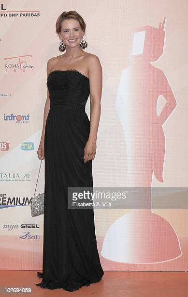 Andrea Osvart attends a photocall during the Rome Fiction Fest at Adriano Cinema on July 7 2010 in Rome Italy