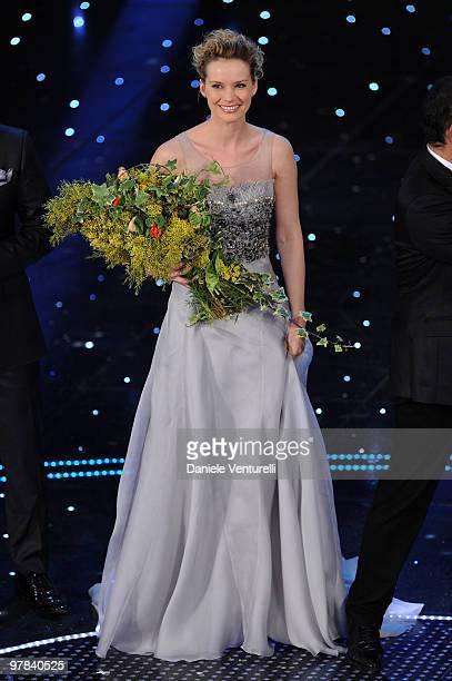 Andrea Osvart attends the ''Premio TV 2010'' Ceremony held at Teatro Ariston on March 18 2010 in San Remo Italy
