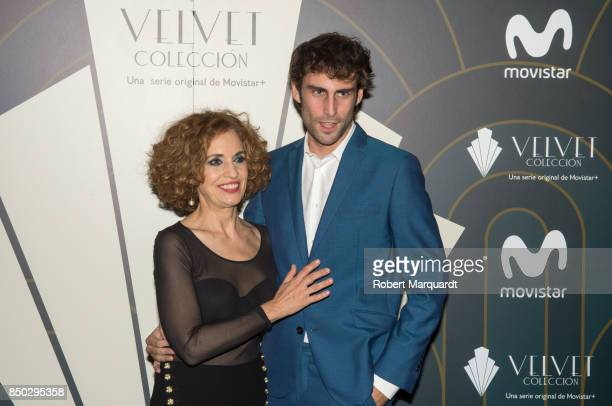 Andrea Ozores and Fernando Guallar pose during a photocall for the premiere of 'Velvet' at the Sala Phenomena on September 20 2017 in Barcelona Spain