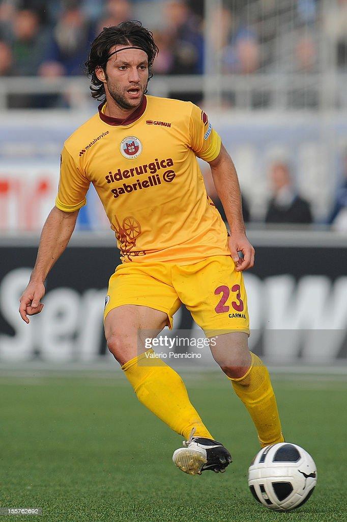 Andrea Paolucci of AS Cittadella in action during the Serie B match between Novara Calcio and AS Cittadella at Silvio Piola Stadium on November 3...