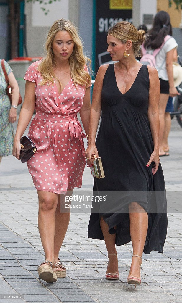 Andrea Pascual (R) attends the 'La moda en la calle' fashion show at Royal Theatre on June 28, 2016 in Madrid, Spain.