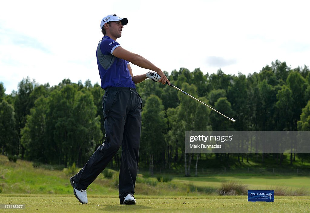 Andrea Pavan of Italy on the 16th tee during the Third Round of the Scottish Hydro Challenge hosted by MacDonald Hotels & Resorts on June 22, 2013 in Aviemore, Scotland.