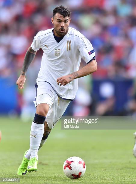 Andrea Petagna during the UEFA European Under21 match between Czech Republic and Italy on June 21 2017 in Tychy Poland