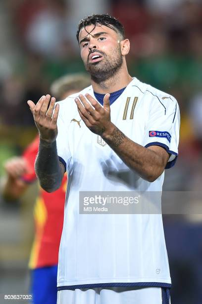 Andrea Petagna during the UEFA European Under21 match between Spain and Italy on June 27 2017 in Krakow Poland