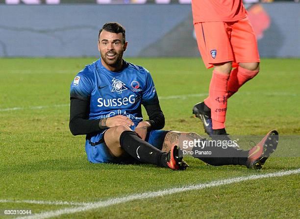 Andrea Petagna of Atalanta BC reacts during the Serie A match between Atalanta BC and Empoli FC at Stadio Atleti Azzurri d'Italia on December 20 2016...