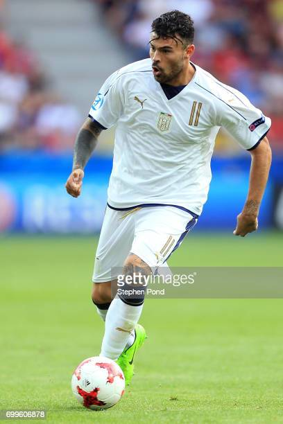 Andrea Petagna of Italy during the UEFA European Under21 Championship Group C match between Czech Republic and Italy at Tychy Stadium on June 21 2017...