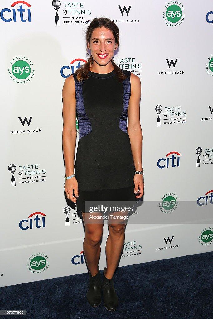 Andrea Petkovic attends Taste Of Tennis Miami Presented By Citi at W South Beach on March 23, 2015 in Miami Beach, Florida.