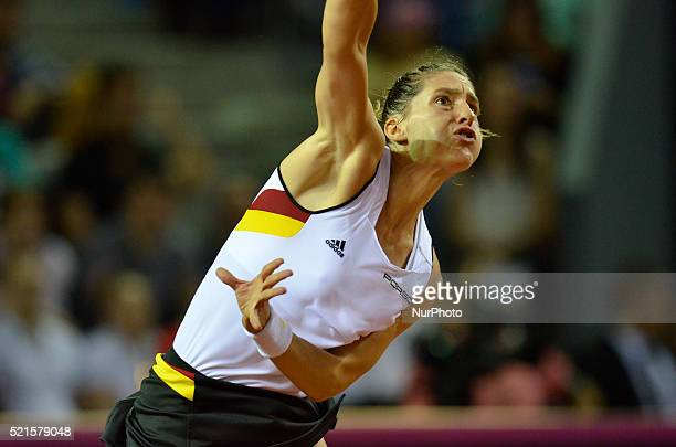 Andrea PETKOVIC during the Fed Cup WORLD GROUP PLAYOFF Romania vs Germany at Polyvalent Hall in ClujNapoca Romania ROU