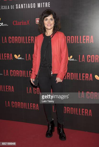 Andrea Pietra attends the premiere of 'La Cordillera' at the Hoyts Shopping Dot cinema on August 15 2017 in Buenos Aires Argentina