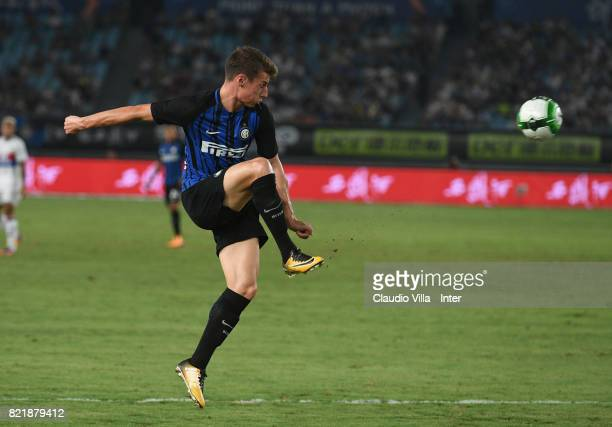Andrea Pinamonti of FC Internazionale in action during the 2017 International Champions Cup match between FC Internazionale and Olympique Lyonnais at...